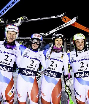 Camille Rast ski alpin team event Championnats du Monde St-Moritz