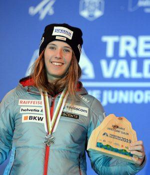 Camille Rast ski alpin slalom Championnats du Monde Juniors Pozza di Fassa