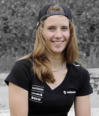 Camille Rast portrait sponsor Swiss-ski