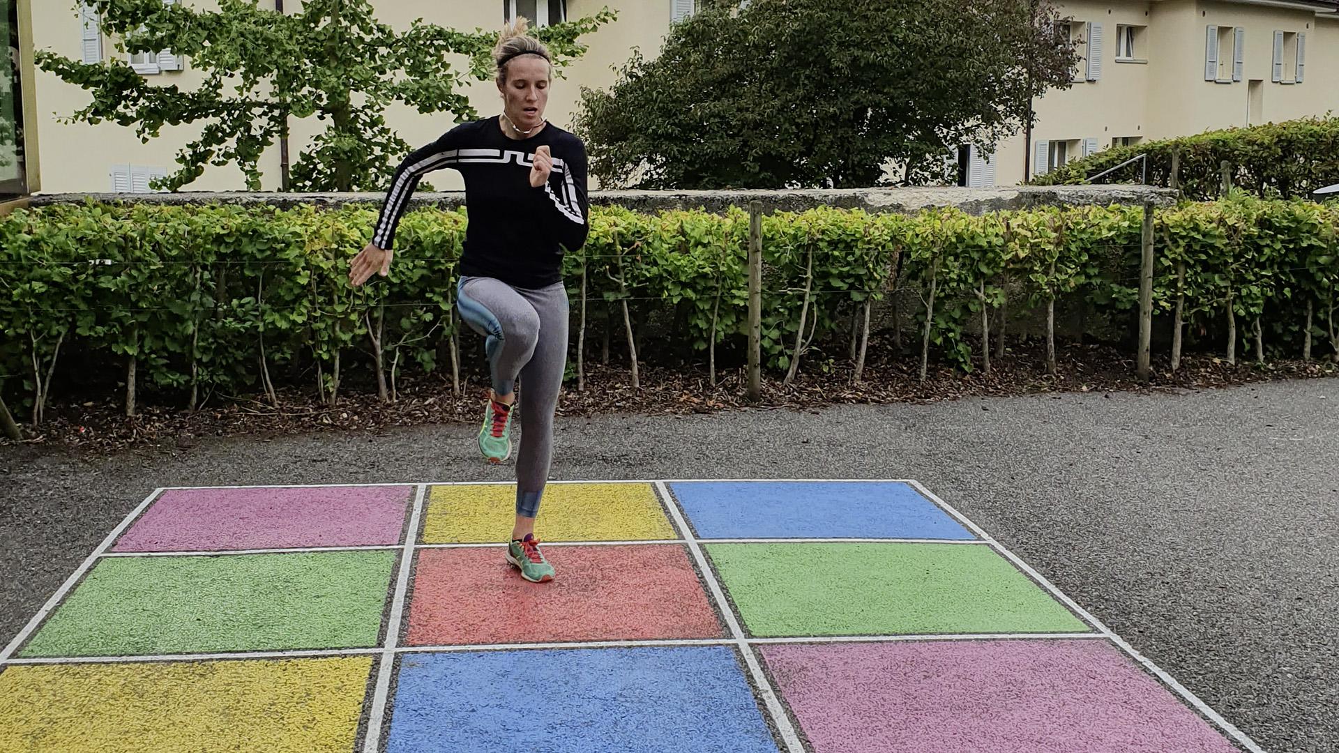 Camille Rast entrainement condition physique